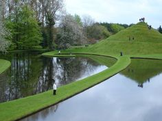 The Garden of Cosmic Speculation is a 30 acre hectare) sculpture garden created by landscape architect and theorist Charles Jencks at his home, Portrack House, near Dumfries in South West Scotland. Garden Landscape Design, Landscape Art, Garden Landscaping, Architecture Design, Landscape Architecture, Garden Of Cosmic Speculation, Pool Water Features, Most Beautiful Gardens, Garden Art
