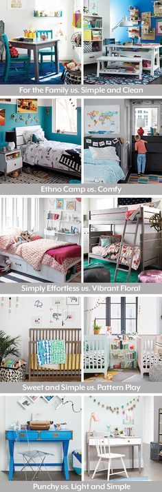 Need help designing a kids bedroom? You're in luck. The Land of Nod's Room… Awesome Bedrooms, Cool Rooms, Kids Decor, Home Decor, Decor Ideas, Decorating Ideas, Little Girl Rooms, My New Room, Girls Bedroom