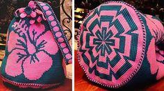 Удобная вместительная сумка — «ведро» издавна использовалась индейцами Южной Америки. Колумбийские женщины плели такие сумки для своих мужчин. С ними ходили на работу, носили в заплечном мешке еду и инструменты.