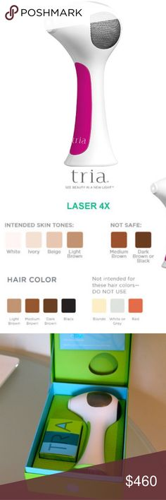 Tria hair removal laser 4x Tria hair removal laser 4x , used , in really good condition , color , pink , comes with box and charger ,if you have any question please contact me Other