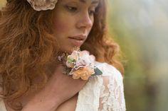 Romantic floral ring / colorful – a unique product by magaela via en.DaWanda.com