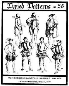Elizabethan men's doublet & hose patterns