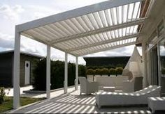 The pergola kits are the easiest and quickest way to build a garden pergola. There are lots of do it yourself pergola kits available to you so that anyone could easily put them together to construct a new structure at their backyard. Vinyl Pergola, Pergola Carport, Building A Pergola, Outdoor Pergola, Wooden Pergola, Backyard Pergola, Pergola Plans, Outdoor Decor, Wooden Slats