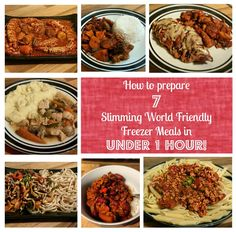 Sugar Pink Food: How to prepare 7 Slimming World friendly freezer meals in under 1 hour! - Pinned this as most of the recipes are SYN FREE and can't be thrown in the slow cooker. Slimming World Survival, Slimming World Dinners, Slimming World Diet, Slimming World Recipes, Sw Meals, Freezer Meals, Dump Dinners, Slow Cooker Recipes, Cooking Recipes
