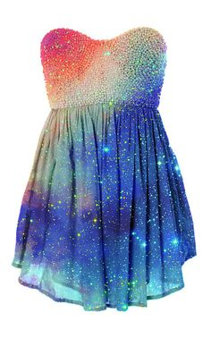 dress galaxy prom dress short dress rainbow glitter dress glitter. I really love this dress and I don't know why