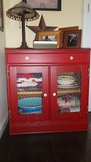 living a cottage life: Furniture Project: Red Cabinet