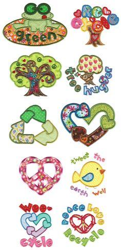 Embroidery   Machine Embroidery Designs   Go Green Applique