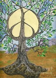 ➳➳➳☮ American Hippie Art - Tree of Life Peace Sign