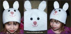 Crochet Bunny Hat (All Sizes) I made this hat for my toddler so she can pretend to be a...