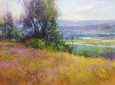Hillside View by Richard McKinley Pastel ~ 9 x 12