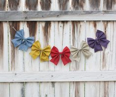 "Felt Bow Bunting - ""Cottage Escape"" Home or Party Decor 24$"