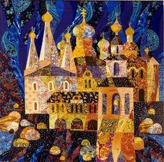 Textile collage by Valentina Maximova