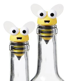 Bee Wine Bottle Topper - Set of Two
