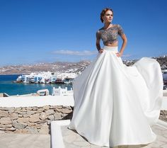 vestidos modernos de novia