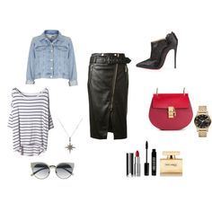A fashion look from October 2014 featuring t shirts, cropped denim jacket and leather pencil skirt. Browse and shop related looks. Leather Skirt, Shoe Bag, Skirts, Polyvore, Stuff To Buy, Accessories, Shopping, Collection, Design