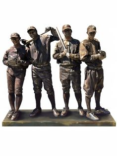 Living Statues: Bronze Sports and Occupations - Vintage Baseball Player Team Ten31 Productions #wemakepretend