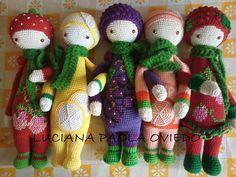 Fruit family cuties by Luciana Paola Oviedo