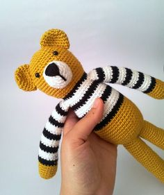 Bear Art Toy Amigurumi FAll autumn mustard by sabahnur on Etsy Crochet Diy, Crochet Amigurumi, Crochet Bear, Amigurumi Patterns, Crochet Animals, Crochet Dolls, Crochet Patterns, Bear Valentines, Bear Toy