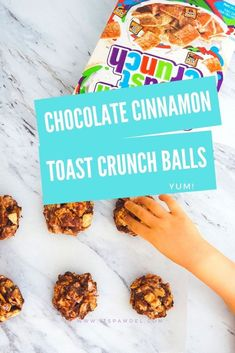 Chocolate Cinnamon Toast Crunch™ Balls Easy, no bake chocolate cinnamon toast crunch balls! This sweet treat is sure to put a smile on everyone's face with this classic cereal treat