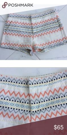 Parker Patterned Shorts, Size 6 Super Cute Patterned Parker Shorts! 100% Cotton, but they have a thicker feel to them. In excellent condition! Size 6. I wish I could keep them but they are too big on me! Parker Shorts