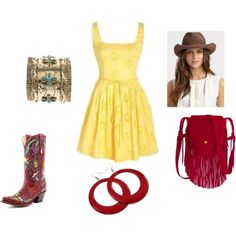 cowgirl, created by ginaleanne on Polyvore