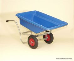 The barrow will tip and flip for total emptying, with a stungingly easy operation. With a tough stubbythene body and full glavinished steel frame.