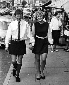 He-Skirt: '60s mini-skirts for men.