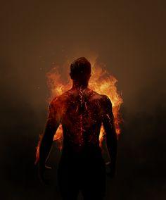 """""""Zijn hart was als duizenden vlammen, zijn lichaam in vuur en vlam zettend.""""  -Koningin van Duizend Nachten"""