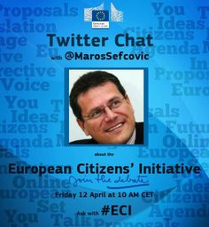 What is the European Citizens' Initiative? http://storify.com/EU_Commission/eci-chat-with-vice-president-maros-sefcovic