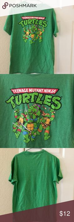 Men's TMNT Top. (M) Men's Like new. TMNT Teenage Mutant Ninja Turtles green top. Size Medium. In excellent condition. Check out my closet for more menswear. Nickelodeon Shirts Tees - Short Sleeve