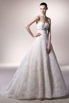 Elegantes Herz-Ausschnitt  A-Linie trägerloses Brautkleid aus Organza bei www.persunkleid.de kaufen. (SKU: WBBD0560)