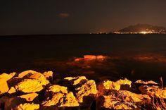 Θάλασσα τη Νύχτα 4 / Sea rocks at night
