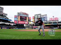 Atlanta Braves players attempt some fancy bouncing ball tricks. Andrelton Simmons must have practiced.