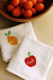 Rust & Sunshine: Dish Towels Diy