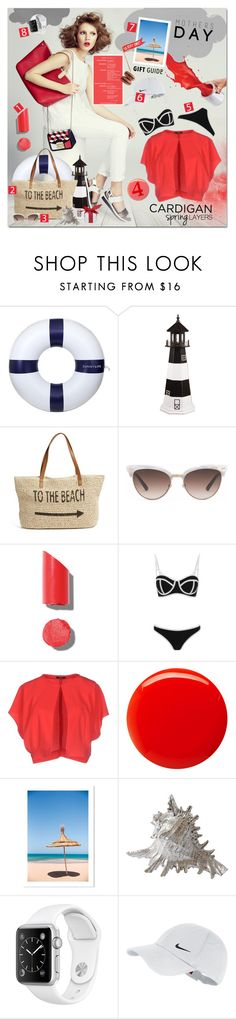 """To the beach"" by justlovedesign ❤ liked on Polyvore featuring Sunnylife, DutchCrafters, Straw Studios, Gucci, Chanel, South Beach, Hanita, Balmain and NIKE"
