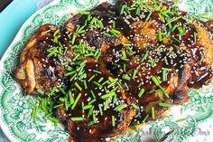 Sesam soja kip met sesamzaadjes en bieslook