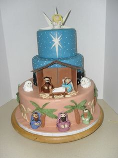 The Nativity Cake I saw this and immediately thought of Jessica and the Creche Exhibit. Maybe she'll be inspired to do one for next year!