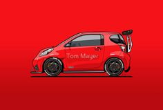 Jay's Red Scion iQ Track 'Micro Machine' by Tom Mayer