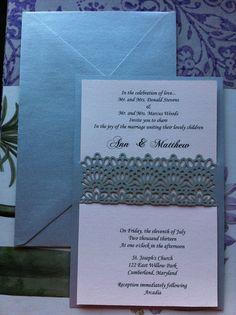 Lace - Elegant Wedding Invitation Laser Cut