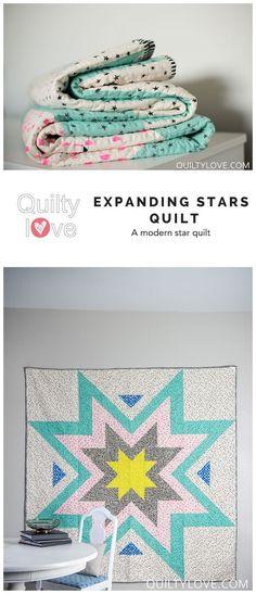 Expanding Stars Pdf Quilt Pattern Pdf Quilt Pattern Quilt Patterns Star Quilt Patterns