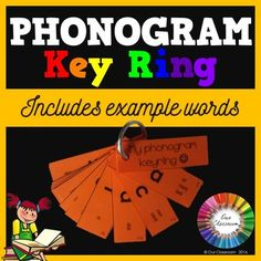 Phonogram KEY RING. Includes 70 phonograms from the Spalding Reading Program.  A fantastic way for students to learn their phonograms in a fun and different way!