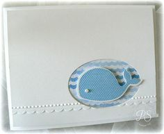 Uses Stampin Up's Oh, Whale! stamp set and coordinating embosslit. Too cute!