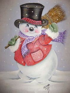 snowmen.quenalbertini: Snowman with a broom