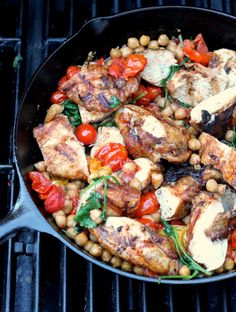 Grilled Chicken, Tomatoes, Chickpeas
