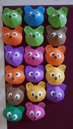 Okul Öncesi Fare Animal Crafts For Kids, Christmas Crafts For Kids, Summer Crafts, Art For Kids, New Crafts, Cute Crafts, Diy And Crafts, Arts And Crafts, Paper Crafts