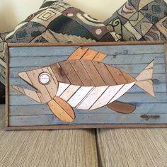 THEODORE DEGROOT LATH ART MOSAIC FISH