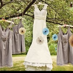 Hanging gowns...