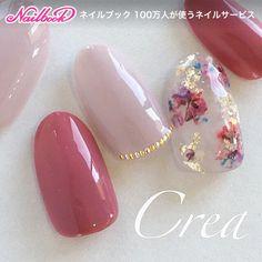 ネイル(No.1842542)|シンプル |フラワー |オフィス |デート |秋 |スモーキー |冬 |ピンク |ベージュ |ジェルネイル |ハンド | かわいいネイルのデザインを探すならネイルブック!流行のデザインが丸わかり! Elegant Nail Designs, Elegant Nails, Gel Nail Designs, Cute Nails, Pretty Nails, Asia Nails, Korean Nail Art, Hello Kitty Nails, Bride Nails