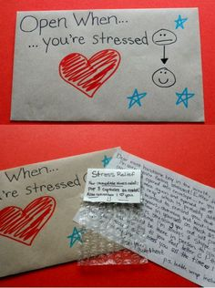 """We've all seen the very sweet """"Open When"""" letters idea, where you send your other half a series of letters to open in different situations (Open When You're Sad, Open When You Miss Me, ect,.) but I..."""
