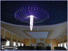 Oświetlenie Sali Weselnej, gwieździste niebo i żyrandol światłowodowy